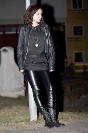 Cubus jacket - Zara dress - Vero Moda pants - Din Sko boots - GINA TRICOT access