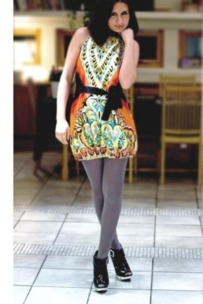 B-Young dress - Zara tights - asos shoes