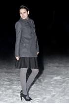 Zara coat - H&M sweater - GINA TRICOT skirt - Zara shoes