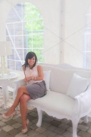 silk H&M skirt - custom made bracelet - shifon top