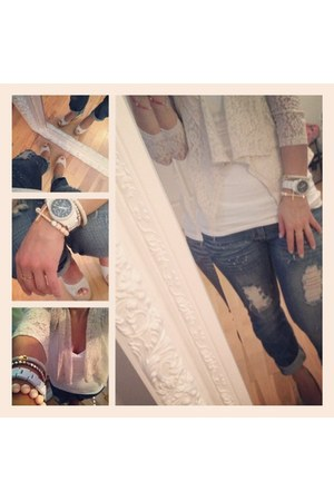 ripped look Machine jeans