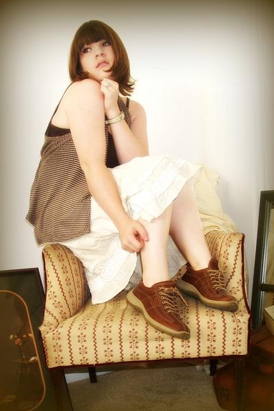 beige Miss Me skirt - brown shoes - brown BKE top - brown Charlotte Russe vest