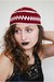 crimson knittedacrylic unknown brand hat
