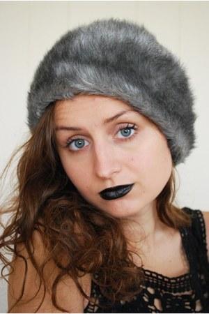 faux fur unknown hat