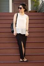 maxi thisisrelative skirt - coach bag - H&M top