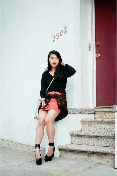 high-waisted denim mini skirt - Lacoste skirt
