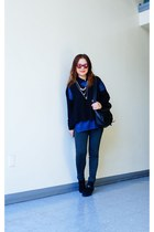 sam edelman boots - H By Rodriguez sweater - JAS London bag - J Brand pants