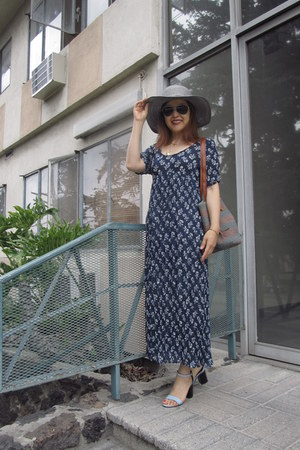 dress - Caribbean joe hat - jute tote RL Denim and Supply bag