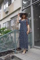dress - Caribbean joe hat - jute tote RL Denim and Supply bag