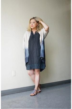 dip dye linen Urban Renewal cardigan - Carla Coni dress