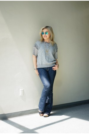 vest Joan vass sweatshirt - flared Zara jeans