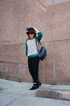 sam edelman boots - Nordstrom hat - Cut25 sweater - French Connection bag