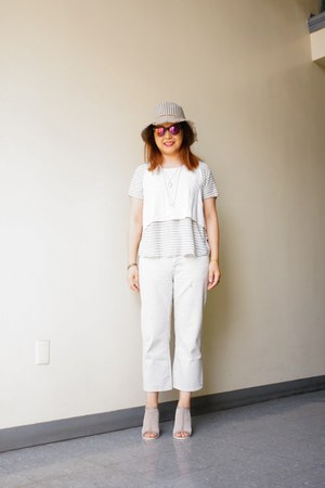BDG jeans - striped bucket Magid hat - mirror lens Urban Outfitters sunglasses