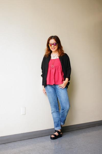 girlfriend Zara jeans - Urban Renewal jacket