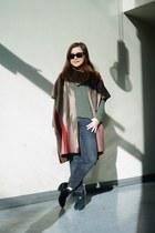 black suede sam edelman boots - black cropped Zara jeans