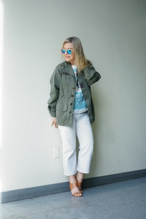 Urban Renewal jacket - BDG jeans - mirror lens Urban Outfitters sunglasses