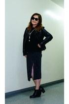 Lucky Brand necklace - vagabond boots - Guess jacket - black Zara sweater