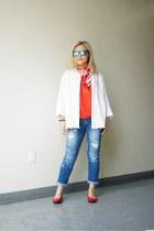 AK Anne Klein scarf - destroyed Union Bay jeans