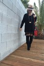Steve-madden-boots-brandy-melville-dress-asos-hat-celine-bag