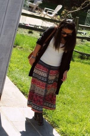 Target boots - lace back Wet Seal shirt - liz claiborne purse - XOXO sunglasses