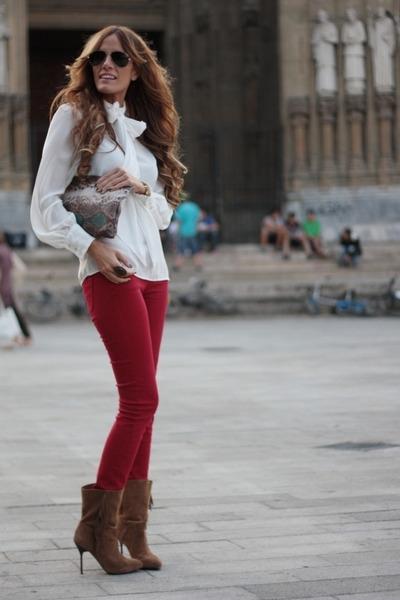 Mango shoes - Zara shirt - Zara bag - Stradivarius pants