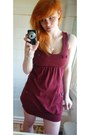 Maroon-atmosphere-romper-silver-heart-wire-mesh-argos-necklace