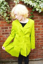lime green tie up allui and alison jacket