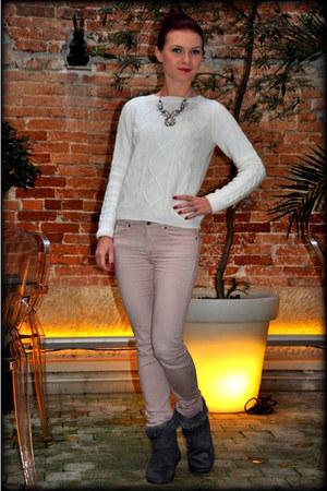 H&M jumper - Stradivarius coat - H&M jeans