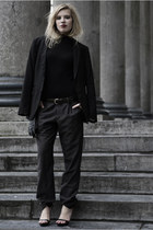 black COS sweater - black WE men blazer - charcoal gray WE men pants