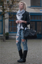 black sendra boots - blue One Teaspoon jeans - black H&M jacket