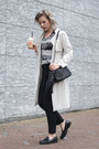 Beige-s-oliver-coat-black-asos-scarf-black-zara-bag-black-knit-mango-vest