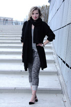 black Shop Affaire scarf - black ComeGetFashion pumps - black OnePiece cardigan