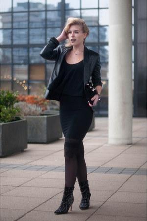 black ankle melina sam edelman boots - black Mango jacket