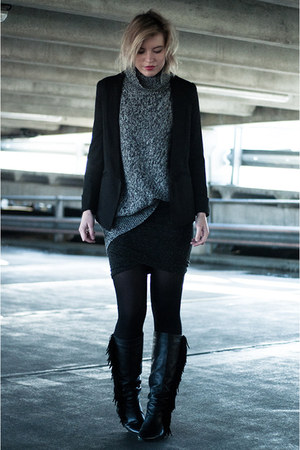 black Martofchina blazer - black sacha shoes boots