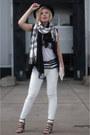 Black-topshop-scarf-white-river-island-scarf-black-boohoo-blazer