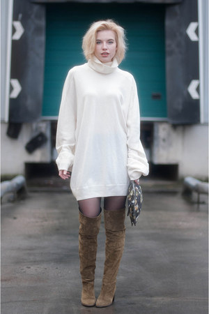 white Maison Martin Margiela for H&M jumper - army green Topshop boots