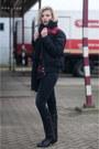 Black-sendra-boots-black-skinny-revel-levis-jeans-ruby-red-monki-shirt