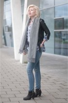 black asos boots - blue asos jeans - black Topshop jacket