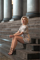 silver Nelly Icons dress
