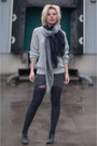 Heather-gray-boohoo-sweater-dark-gray-nordstrom-scarf