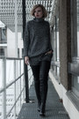 Black-h-m-boots-charcoal-gray-lindex-sweater-silver-h-m-pants