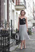 black Zara top - heather gray Alexander Wang bag