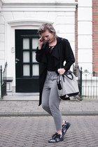 black Mango coat - heather gray Alexander Wang bag - heather gray Only pants
