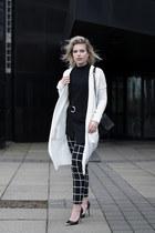 black costes pants - black Guess heels - white Melting Stockholm cardigan