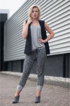 gray SwayChic pants - black Mango blazer - heather gray Mango t-shirt