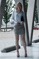 black Frenchonista bag - light blue H&M shirt - black ray-ban sunglasses