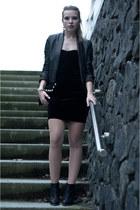 black ankle perplex maison martin margiela X H&M boots - black Mango dress