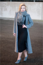 heather gray Acne Studios scarf - black H&M Trend dress - heather gray Otto coat