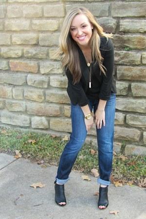 black Urban Outfitters blazer - boyfriend Hudson jeans - black Nordstrom t-shirt