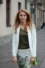 White-bershka-jacket-chartreuse-mango-bag-green-h-m-panties